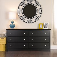 Prepac Sonoma 6-Drawer Dresser, Black