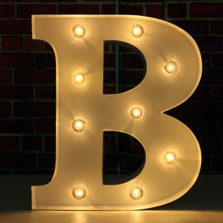 9 led metal marquee letter light alphabet letter lights romantic wedding birthday party home decorations walmartcom