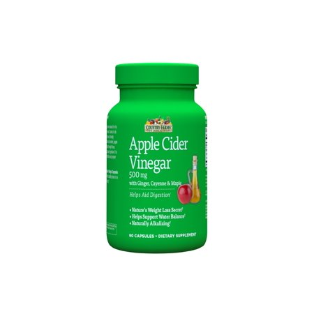Country Farms Apple Cider Vinegar 500 Mg Capsules  90 Ct