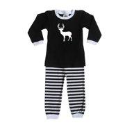 Rocket Bug Woodland Deer Pajama Set for Infants and Toddlers Bubblegum and Hot Pink 6 months (3-6m)