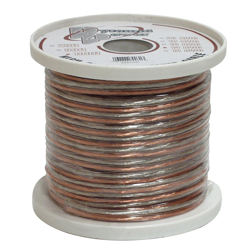 Pyramid 20 Gauge 50 Ft. Spool Of High Quality Speaker Zip Wire - For Speaker - 50 Ft - 1 Pack - Bare Wire - Bare Wire (rsw2050)