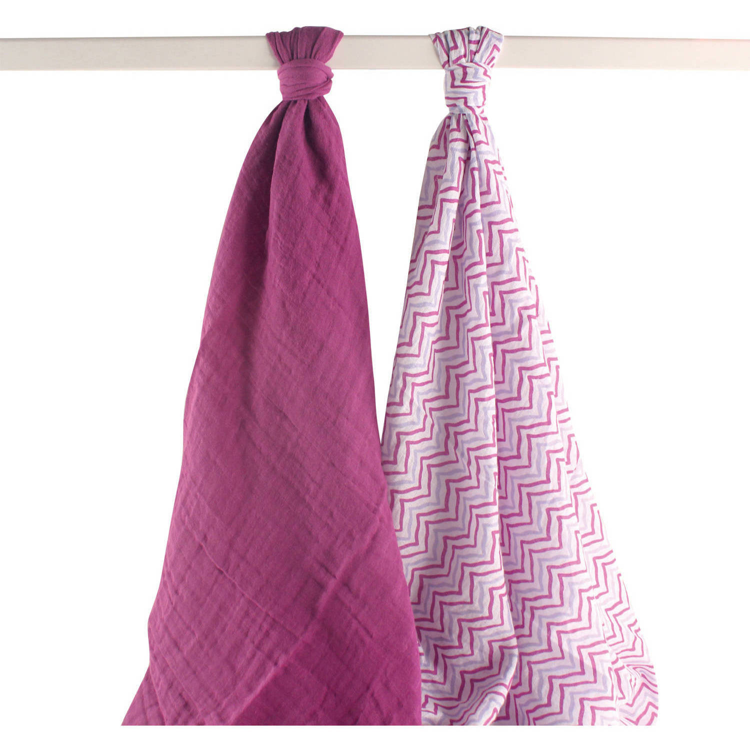 Yoga Sprout 2pk, Muslin Swaddle Blankets, Purple