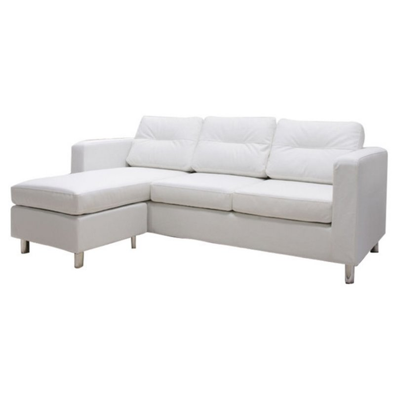 Gold Sparrow Detroit Convertible Sectional Sofa And Ottoman White Walmart