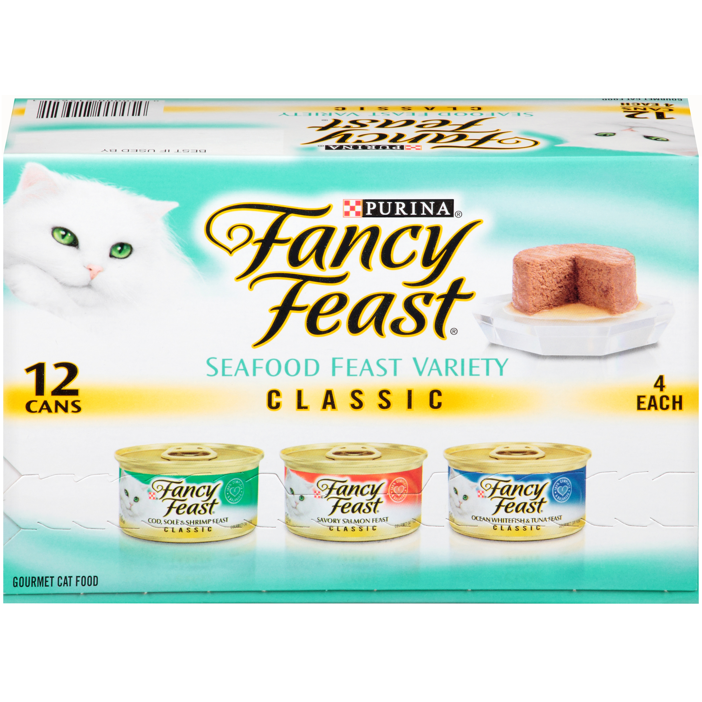 Purina Fancy Feast Classic Pat�� Seafood Feast Variety Cat Food 12-3 oz. Cans