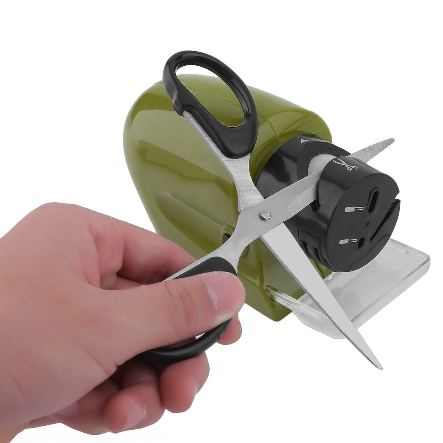Electric Kitchen Knife Scissors Cordless Knife Sharpener Sharpening System