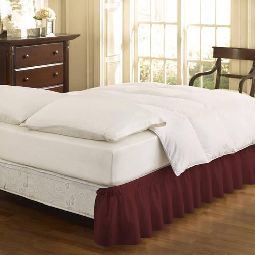 EasyFit Wrap Around Solid Ruffled Bedskirt by Ellery Homestyles