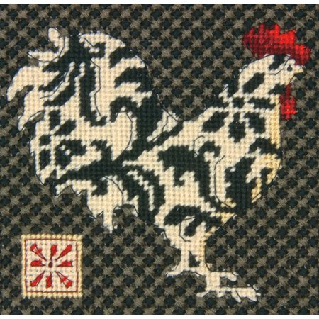 Dimensions Black and White Rooster Mini Needlepoint Kit, 5