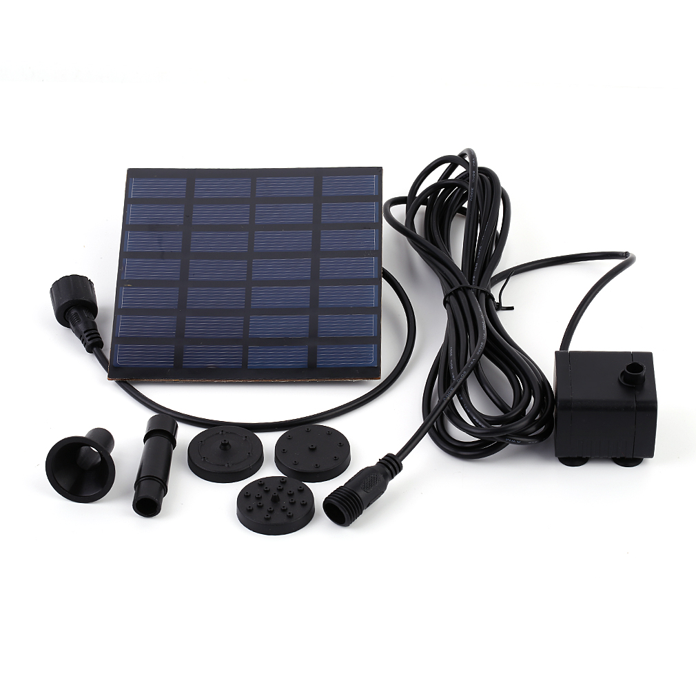 2017 Solar Power Panel Water Pump Kit Fountain Garden Pool Pond Plants Watering by Generic