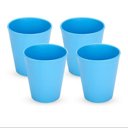 Green Eats Tumblers Drinking Cups, 4 Pack, Orange/Green