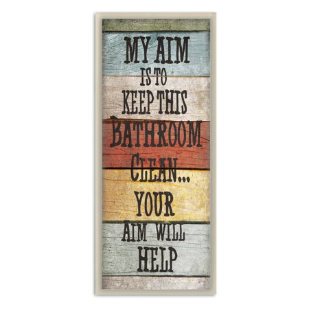 My Aim Is To Keep This Room Clean Wall Plaque