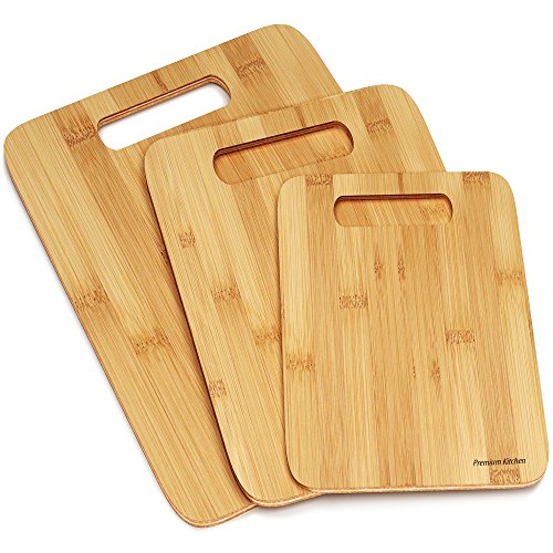 Kitchen Wood Set Of 3 Piece Cutting Boards Butcher Block Hardwood Quality