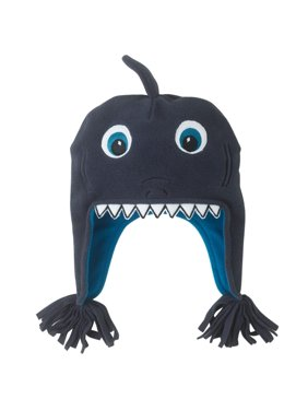 CP Infant & Toddler Boys Blue Microfleece Shark Peruvian Trapper Hat