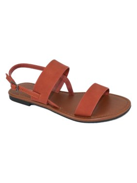 5fa5bf977a0 Product Image City Classified Shoes Women Plain Basic Gladiator Sandals  Ankle Strap WINNIE-S orange 5.5