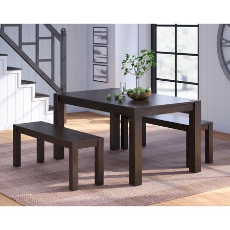 Better Homes & Gardens Bryant Solid Wood Dining Bench, Deep Coffee Finish