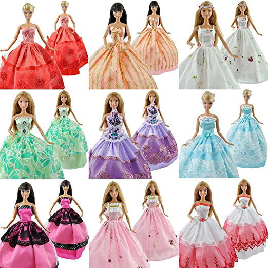 Lot 5 P 5x Fashion Handmade Clothes Dresses Grows Outfit for Barbie Doll