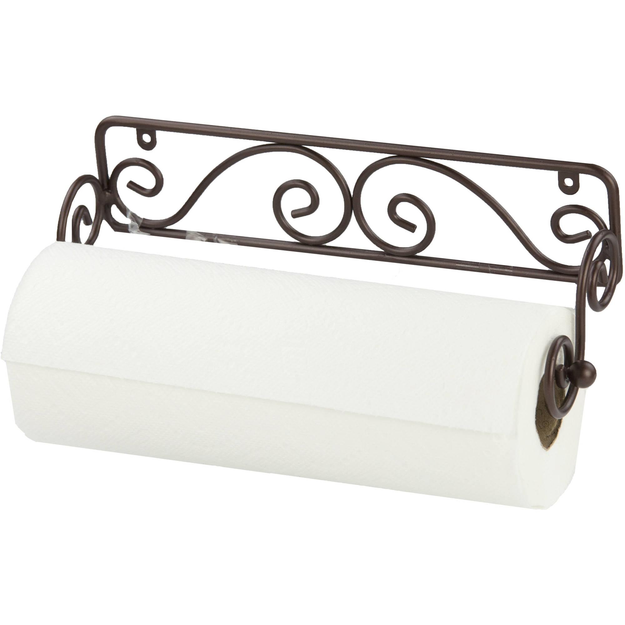 Wall Mount Paper Towel Holder home basics scroll collection steel wall mounted paper towel