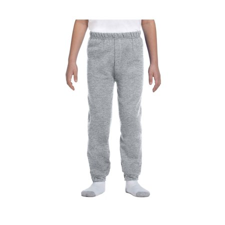 Jerzees Big Boys Elastic Waist And Bottom Leg Fleece Sweatpant, Style 973B (Green Sweatpants Kids)