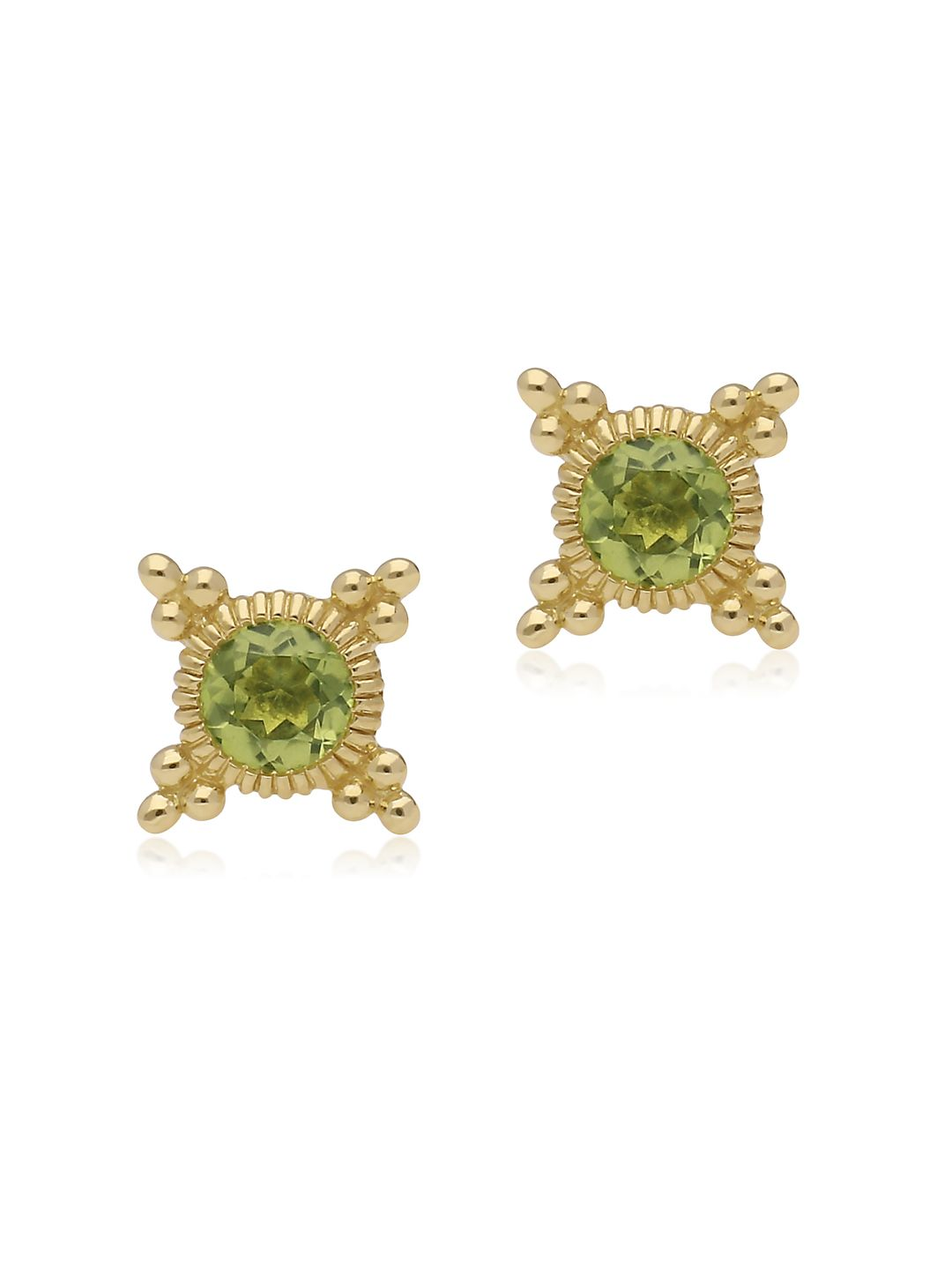 Juliette Peridot and 14K Gold Stud Earrings