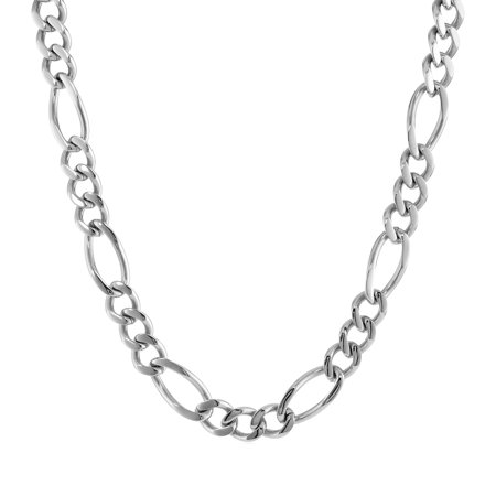 Metro Jewelry Stainless Steel Figaro Link Necklace Jewelry Type: FashionChain Style: FigaroNecklace Type: Chain