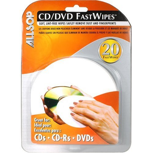 Allsop 50100 CD Fastwipes, 20pk