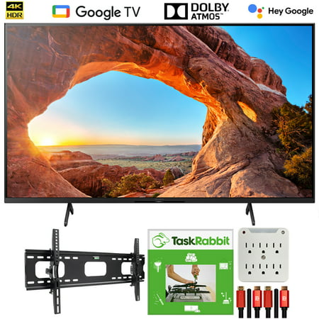 Sony KD85X85J 85 Inch 4K Ultra HD LED Smart TV (2021) with TaskRabbit Installation and Wall Mounting Bundle for X85J Series