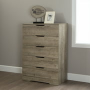 South Shore Holland 5-Drawer Chest, Weathered Oak