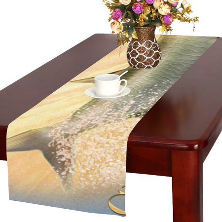 MYPOP Tarpon Acrobat Team Fictional Cotton Linen Table Runner 16x72 Inches