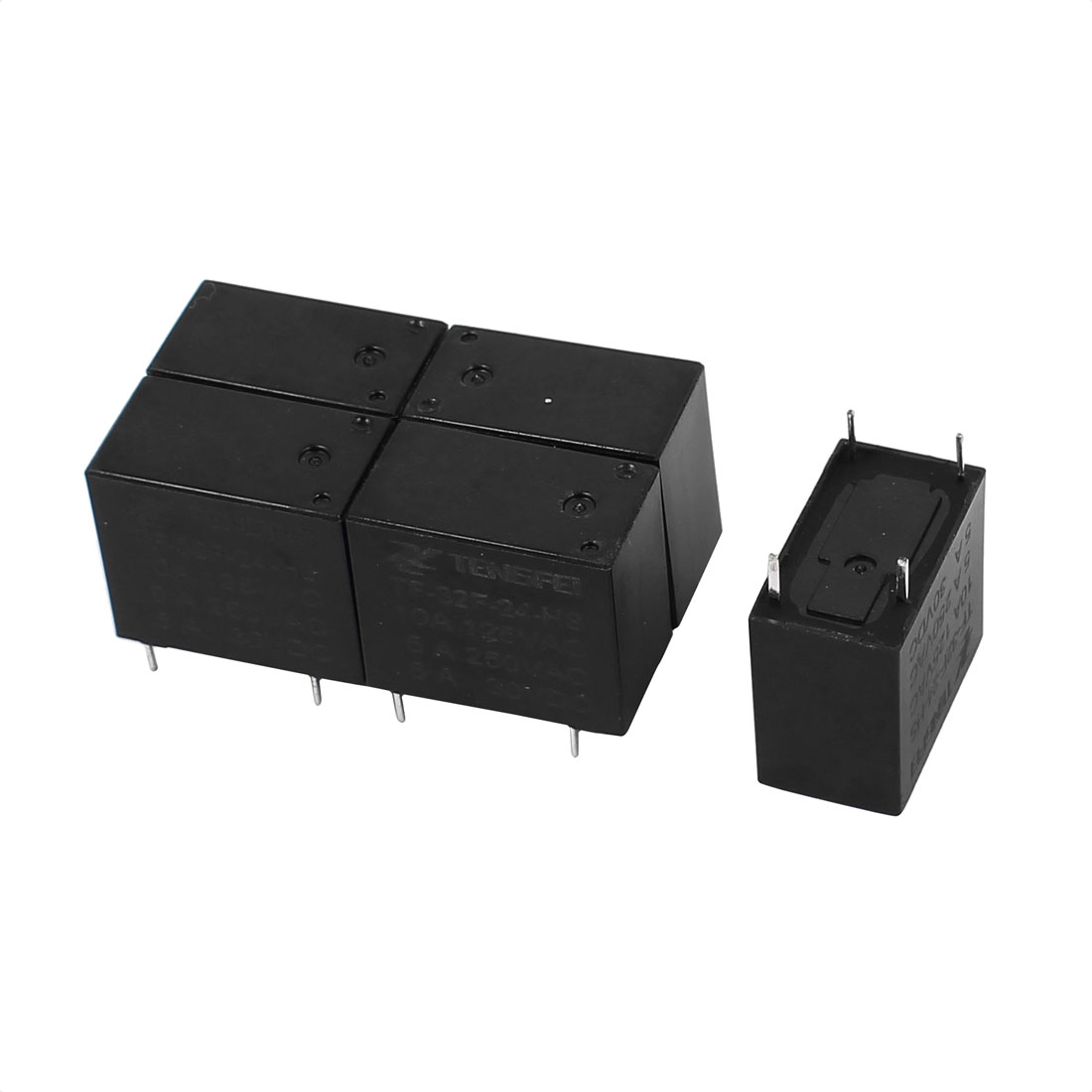 5pcs Dc24v 4 Terminal Spst No High Quality Tiny Power Coil And Nc Contacts Of Relay Electromagnetic
