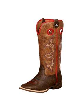 DBL Barrel 4449402-09 Western Boots Children Kolter Zip, Brown - Size 9
