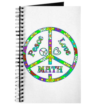 CafePress - Peace Love Math - Spiral Bound Journal Notebook, Personal Diary