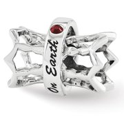 Sterling Silver Peace on Earth Spinner Charm with Swarovski Crystals