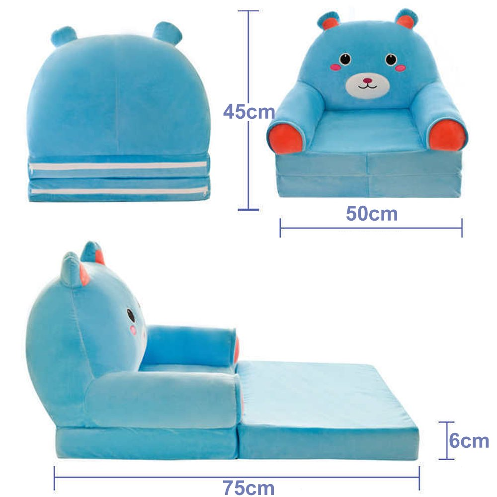 Childrens Foldbale Lazy Sofa Bed Kids Comfy Soft Floor Chair