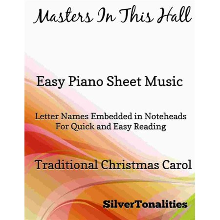Masters In This Hall Easy Piano Sheet Music - - This Is Halloween Music Sheet