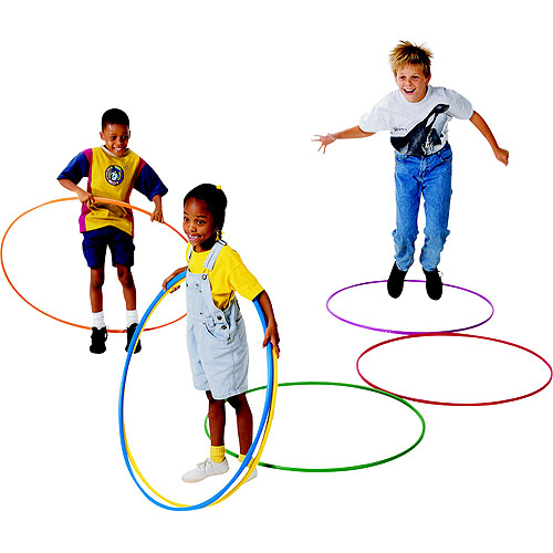 "Sportime Deluxe Hula Hoop Set, 36"" Diameter, Multiple Colors, Set of 12"