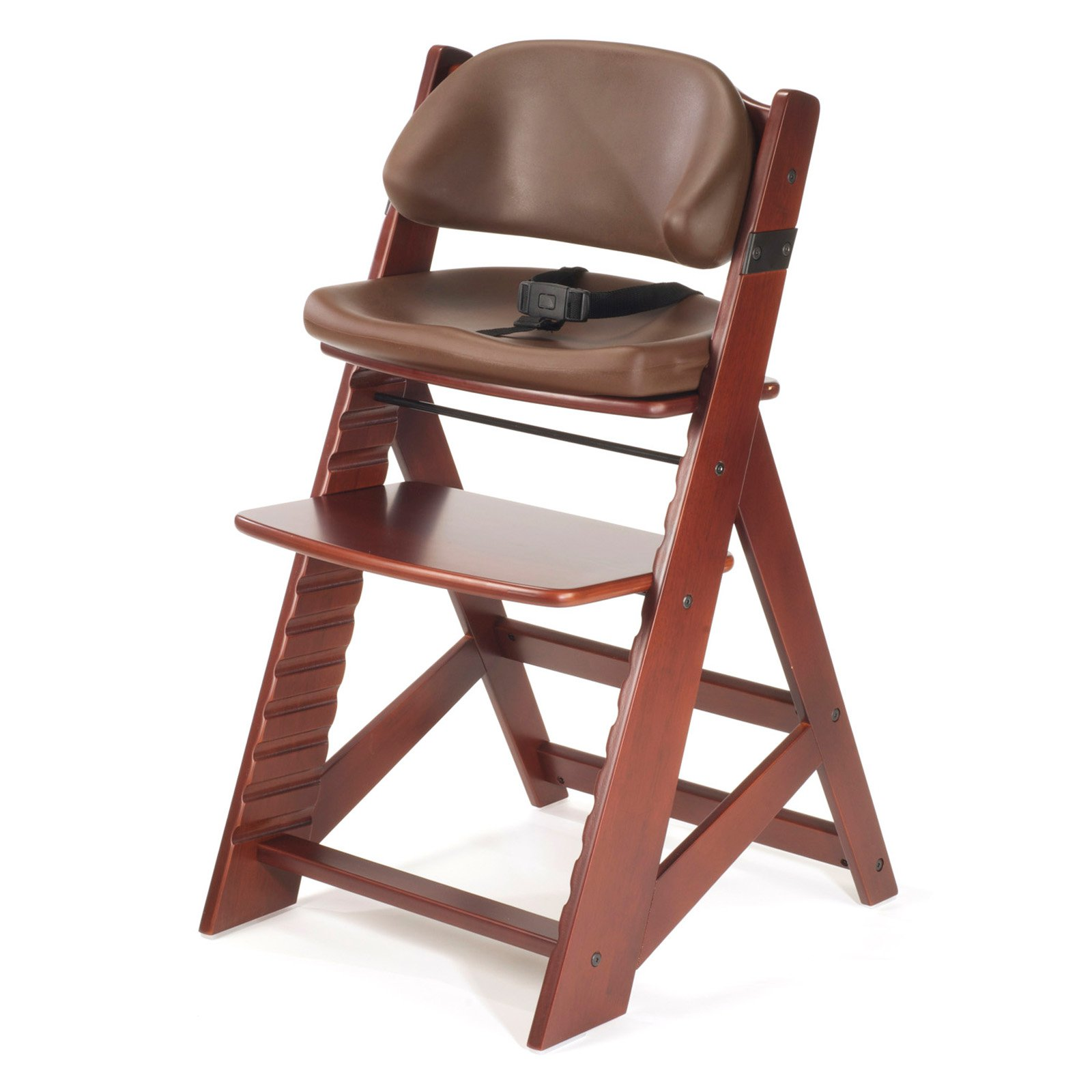 Keekaroo Height Right Kids Chair Mahogany with Chocolate Comfort Cushions