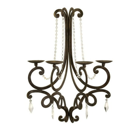 French Style Chandelier Wall Sconce Candle Holder With Crystal Details 26