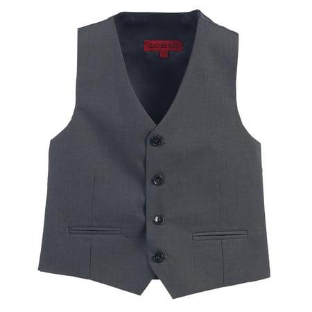 Gioberti Boy's 4 Button Formal Suit Vest](Childrens Fur Vest)