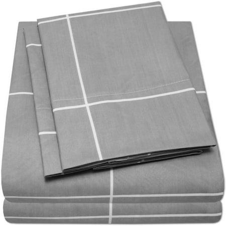 Loft Collection Modern Window Pane Pattern Sheet Set