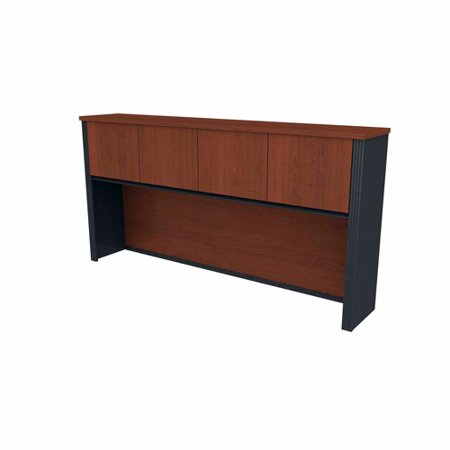 Bestar Prestige Hutch For Credenza Bordeaux Graphite