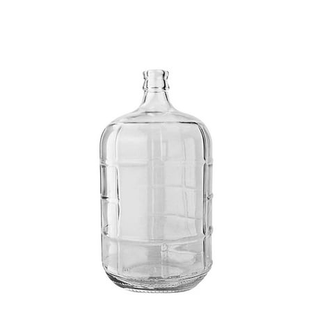 3 Gallon Round Frosted Glass Carboy w/ 55mm Crown Cap (Clear Glass)