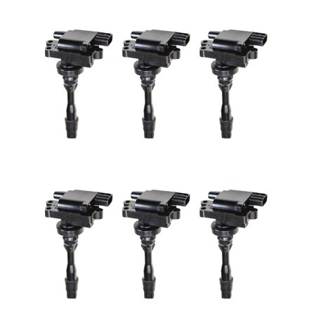 - Set of 6 Ignition Coils For 2003 Mitsubishi Montero XLS Sport Utility 4-Door 3.8L 3797CC 230Cu. In. V6 GAS SOHC Naturally Aspirated Compatible with UF525 C1432