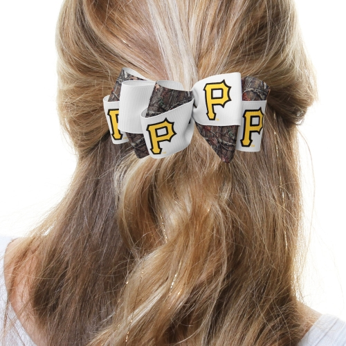Pittsburgh Pirates Women's Mary Loop with Mossy Oak Hair Bow - No Size
