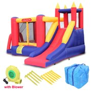 Topcobe Bounce House with Air Blower, Extra Thick Material Inflatable Bouncer for Outdoor