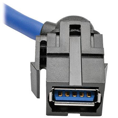 Tripp Lite USB 3.0 SuperSpeed Keystone Jack Type-A Extension Cable (M/F), 3 ft - image 2 of 4