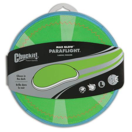 Chuckit Paraflight Max Glow Frisbee Dog Toy Large