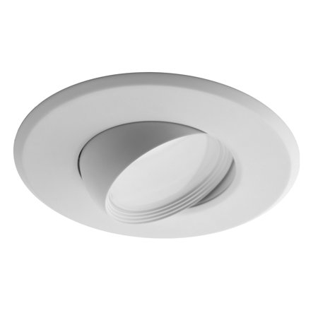 NICOR Lighting 5/6-Inch Dimmable 4000K Adjustable Eyeball LED Recessed Retrofit Downlight, White (DEB56-20-120-4K-WH)
