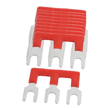 10PCS 600V 25A 6mm Pitch 3 Position PCB Board Terminal Strip Barrier Red