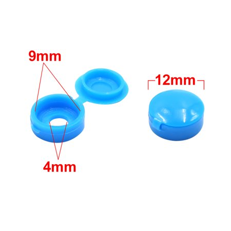 100pcs Blue Plastic Universal Car Decoration Screws Bolts Nuts Cap Covers 4mm - image 1 of 3