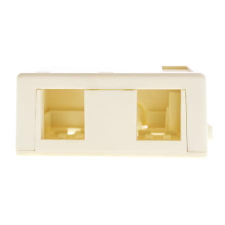 - Leviton 40822-AR Quickport Modular Surface Mount Box, SMB, 2-Port, Almond