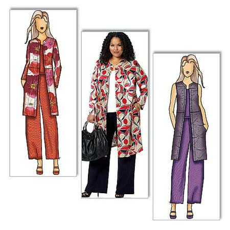 Women Jacquard Pattern - Butterick Pattern Misses' and Women's Jacket, Vest and Pants, Women (XXL, 1X, 2X, 3X, 4X, 5X, 6X)